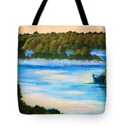 Early Morning On Lake Peipsi  Tote Bag