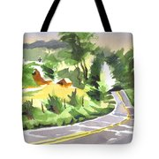 Early Morning Out Route Jj Tote Bag