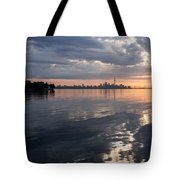 Early Morning Reflections - Lake Ontario And Downtown Toronto Skyline  Tote Bag