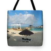 Early Morning Shade On A Tropical Beach   Tote Bag