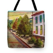 Early Morning Side Street  Tote Bag