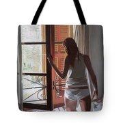 Early Morning Villa Mallorca Tote Bag by Gillian Furlong