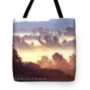 Early Morning Walk Photo With Quote- Brooklyn Ice Age Trail Tote Bag