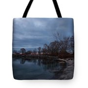 Early Still And Transparent - On The Shores Of Lake Ontario In Toronto Tote Bag