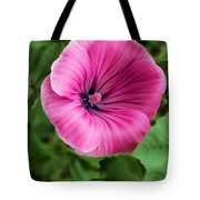 Early Summer Blooms Impressions - Bright Pink Malva - Vertical View Tote Bag