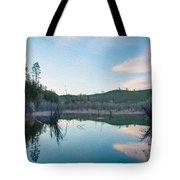 Early Sunset On A Beaver Pond  Tote Bag