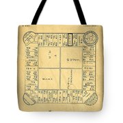 Early Version Of Monopoly Board Game Patent Tote Bag