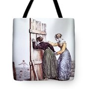 Early Victorian Peeping Women Tote Bag