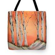Early Winter Aspen Tote Bag