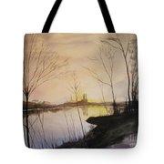 Early Winter Riverside Tote Bag