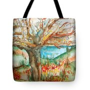 Early Winter Tree Tote Bag