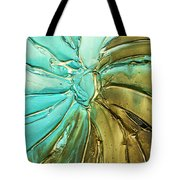 Aqua Teal Brown Organic Abstract Art Tote Bag