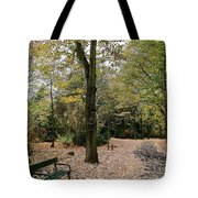 Earth Day Special - Bench In The Park Tote Bag
