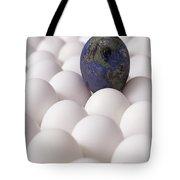 Earth Egg Pollution Tote Bag