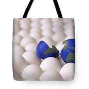 Earth Egg Torn Apart Tote Bag
