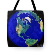 Earth From Space America Tote Bag