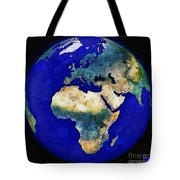 Earth From Space Europe And Africa Tote Bag
