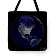 Earth Globe Lights Tote Bag