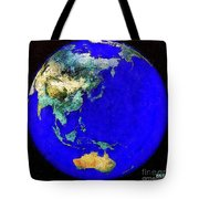 Earth Seen From Space Australia And Azia Tote Bag
