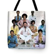 Earth Wind And Fire Autographed Photo Of Group Tote Bag