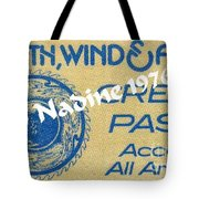 Earth Wind Fire Crew Pass 1976 Tote Bag