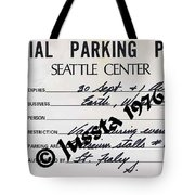 Earth Wind Fire Seattle Parking Permit Tote Bag