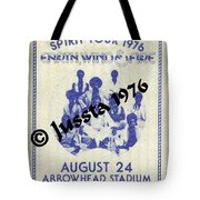 Earth Wind Fire Spirit Tour 1976 Backstage Pass Arrowhead Stadium Tote Bag
