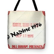 Earth Wind Fire Spirit Tour 1976 Crew Pass  Tote Bag