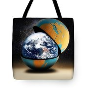 Earths Protective Cover Tote Bag