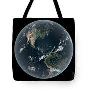 Earths Western Hemisphere With Rise Tote Bag