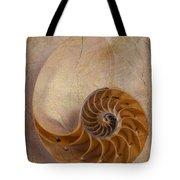 Earthy Nautilus Shell  Tote Bag