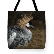 East African Crowned Crane Painterly Tote Bag