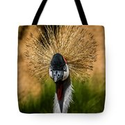 East African Crowned Crane Square Format Tote Bag
