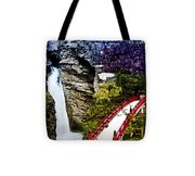 East And West Collage Tote Bag