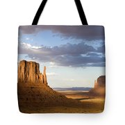 East And West Mittens Monument Valley Tote Bag