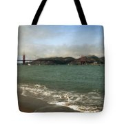 East Beach And Golden Gate Tote Bag