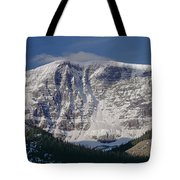 1m3743-east Face Mt. Kitchener With Cloud Tote Bag