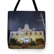 East Greenwich Town House At Night Tote Bag