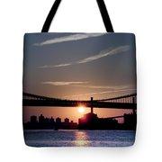 East River Sunrise - New York City Tote Bag