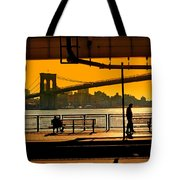 East River Sunset Tote Bag