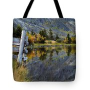 East Rosebud Lake Fall Panorama Tote Bag by Roger Snyder