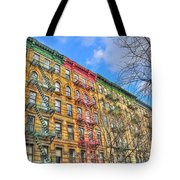 East Village Buildings On East Fourth Street And Bowery Tote Bag