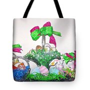 Easter Baskets In A Row  Tote Bag
