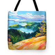 Easter Bluff View Tote Bag