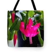 Easter Cactus Digtial Painting Square Tote Bag