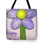 Easter Egg Flower Tote Bag