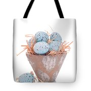 Easter Egg On Straw Tote Bag