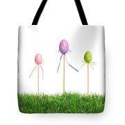 Easter Eggs In Grass Tote Bag