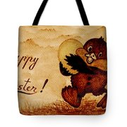 Easter Golden Egg Coffee Painting Tote Bag
