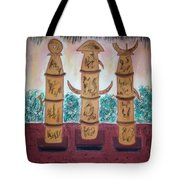 Easter Island Poles Tote Bag